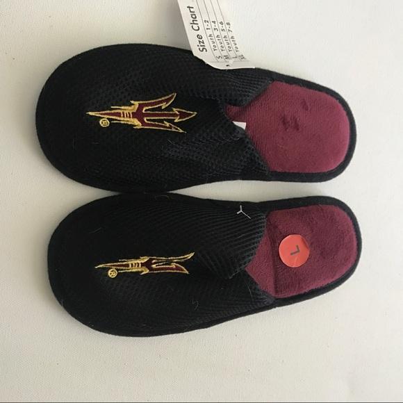 Sun Devils Other - Sun Devils Kids Logo House Shoes Slippers Size L